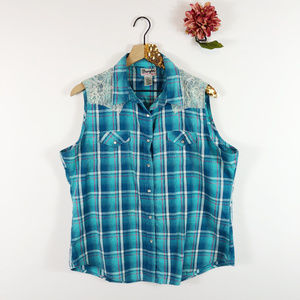 [WRANGLER] Rancher Shirt Sleeveless Snap Up